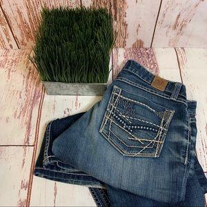 BKE Stella Stretch Jeans Flare 29 Faded Denim EUC